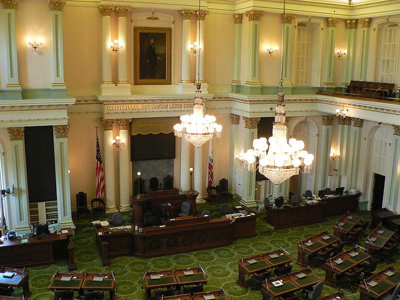 California State Assembly chamber, Sacramento. (Wiki)