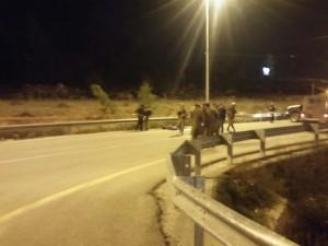 The Gush Etzion Junction following the attack. (Gush Etzion spokesperson)