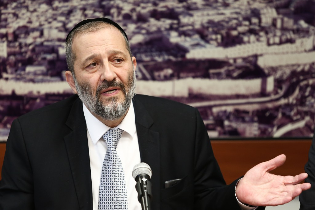 Shas Leader Aryeh Deri (Flash90)