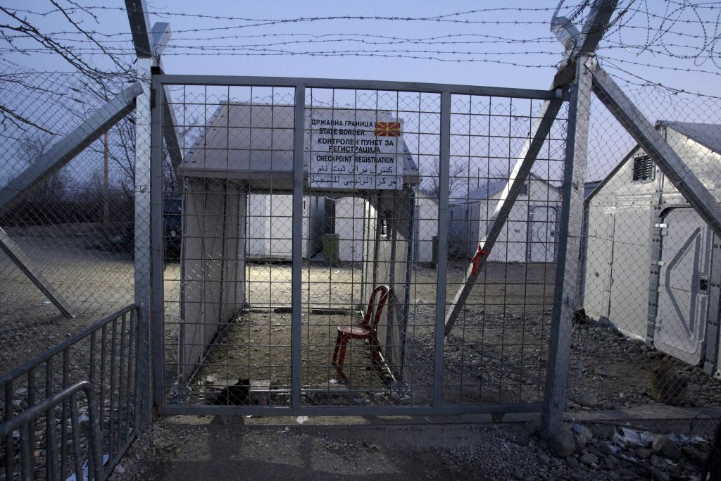 A view of the temporarily closed gate at the Greek-Macedonian border, near the village of Idomeni, Greece, January 21, 2016. REUTERS/Alexandros Avramidis