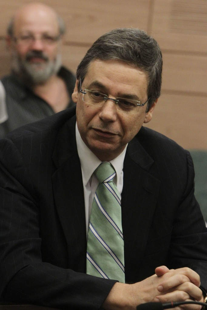 Deputy Minister of Foreign Affairs Danny Ayalon seen during an Israel Beiteinu party meeting in the Knesset in 2012. (Miriam Alster/Flash90)
