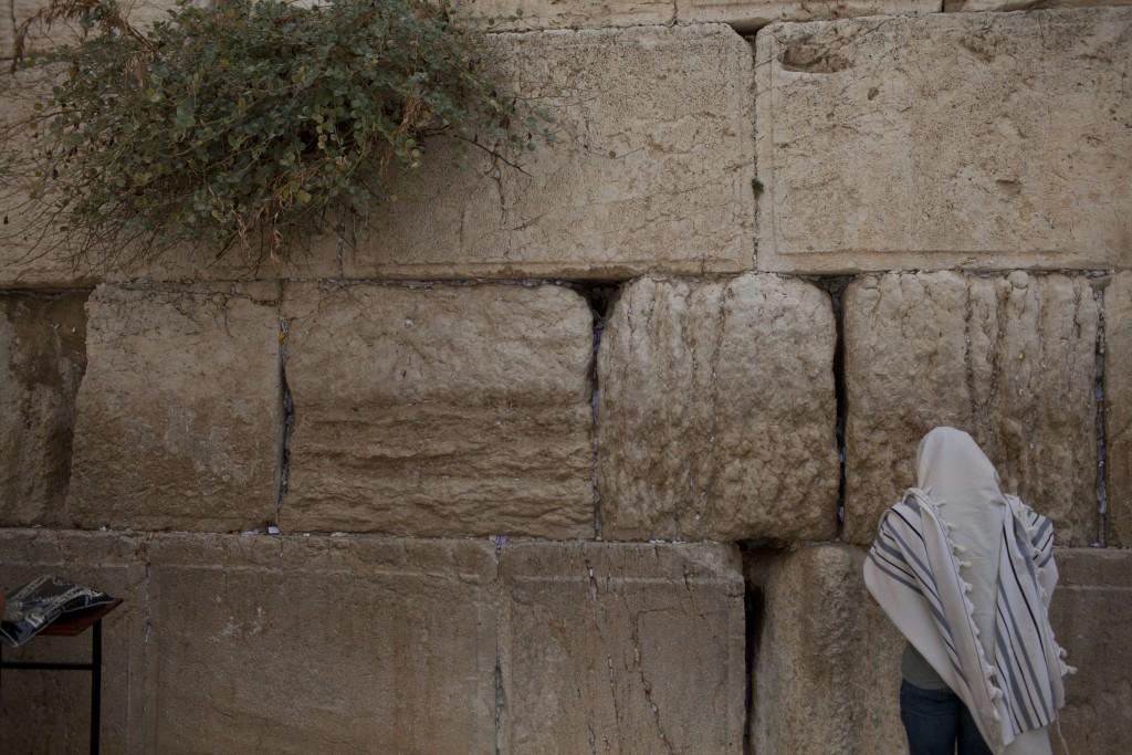 Tefillah at the Kosel. (Lior Mizrahi/Flash90)