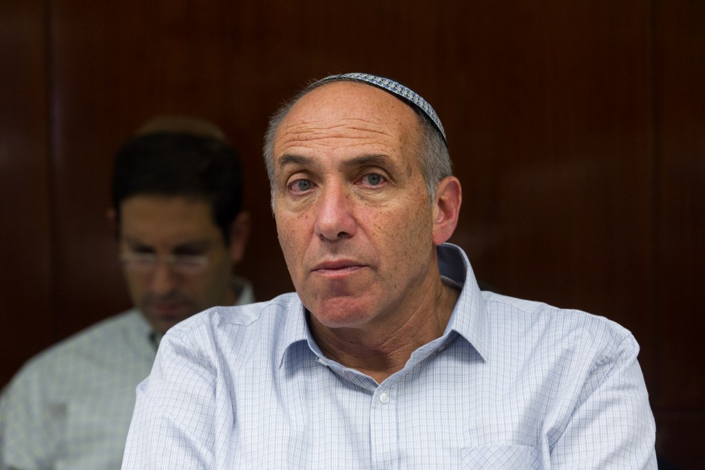 Moti Yogev (Jewish Home), head of the Government Companies Authority. (Miriam Alster/Flash90)