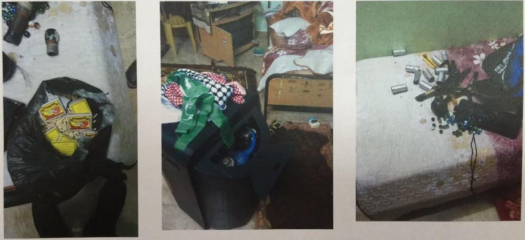 Bomb-making equipment seized in raidShin Bet spokesperson