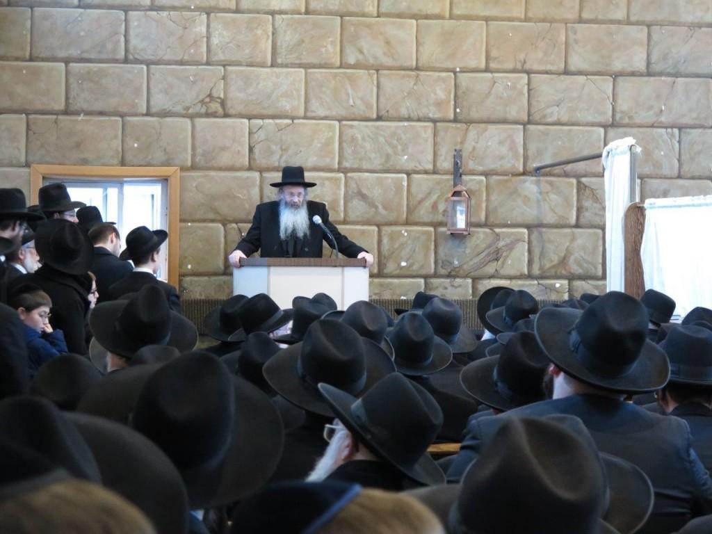 Harav Aryeh Malkiel Kotler Rosh Yeshiva BMG Delivering a Hesped