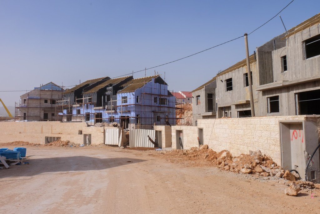A construction site in Efrat. (Gershon Elinson/Flash90)
