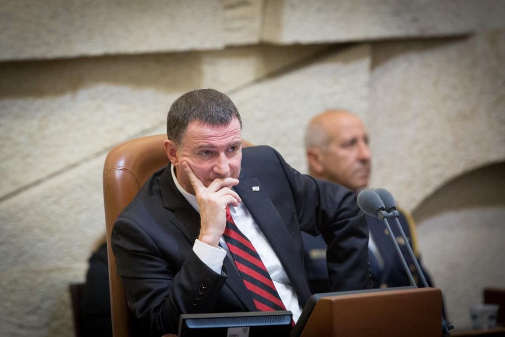 Speaker of the Israeli parliament Yuli Edelstein. (Miriam Alster/Flash90