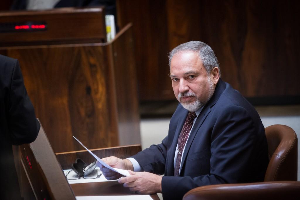 Yisrael Beitenu Chairman MK Avigdor Lieberman. (Miriam Alster/Flash90)
