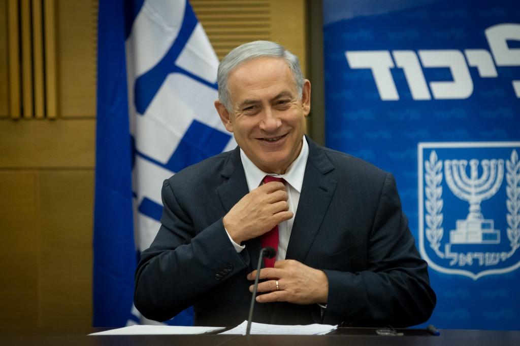 The winner and still Likud chairman---Binyamin Netanyahu. (Miriam Alster/Flash90)