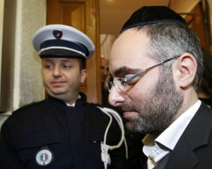 Benjamin Amsellem, the teacher who was injured during an attack in front of a Jewish school in Marseille 9th district arrives for a meeting with French Interior Minister, France, January 14, 2016. The teenager who attacked a Jewish teacher in Marseille on Monday is a Turkish citizen of Kurdish origin who said he acted in the name of the militant Islamist group Islamic State, the prosecutor in the southern French city of Marseille said. REUTERS/Jean-Paul Pelissier
