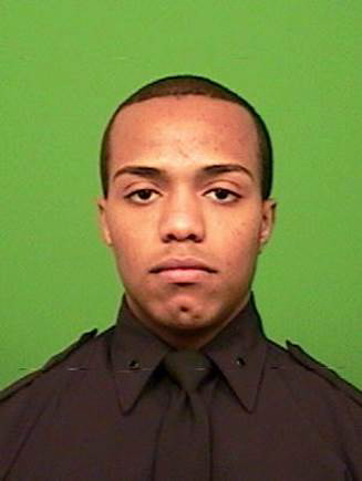 This photo provided by the New York Police Department shows Officer Sherrod Stuart. (NYPD via AP)