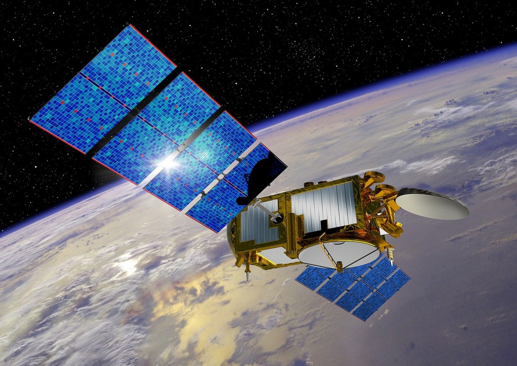 This undated artist rendering provided by NASA shows the Jason-3 satellite. The latest in a series of U.S.-European satellites designed to detect ocean events like El Nino is scheduled for launch Sunday, Jan. 17, from California. If successful, the Jason 3 satellite will continue more than two decades of sea level measurements. (NASA via AP)