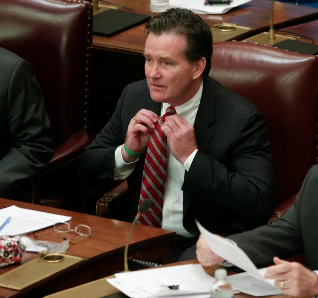Senate Majority Leader John Flanagan on Wednesday in the Senate chamber. (AP Photo/Mike Groll)