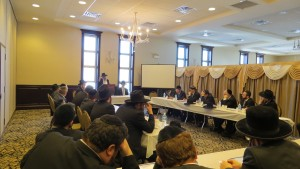 A partial view of the Rabbanim attending the Chayim Aruchim Conference. (Agudath Israel of America)