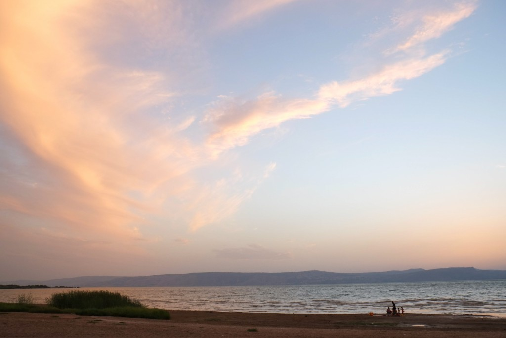 Sunset at the Kinneret, sea of Galilee. Northern Israel. October 12, 2015. Photo by Chen Leopold/flash90