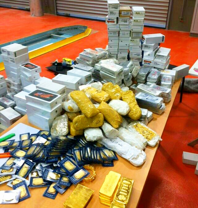 Some of the items found by Customs officials in the EU vehicle (Tax Authority)