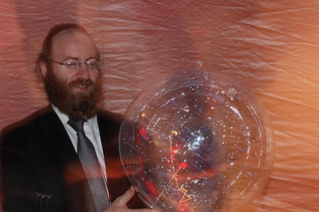 Rabbi Ostriecher comes to Yeshiva Toras Menachem- Lakewood to teach about Kidush HaChodesh in his planetarium.
