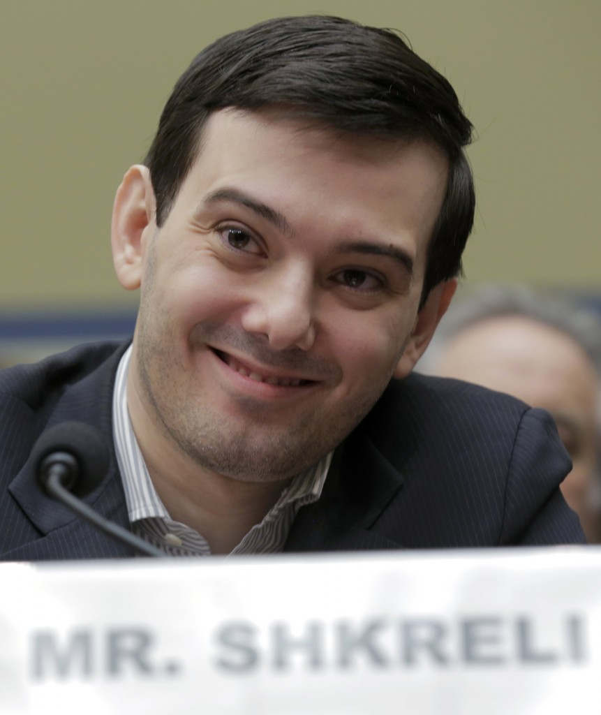 "Martin Shkreli, former CEO of Turing Pharmaceuticals LLC, appears before a House Oversight and Government Reform hearing on ""Developments in the Prescription Drug Market Oversight"" on Capitol Hill in Washington Thursday. (Joshua Roberts/Reuters)"