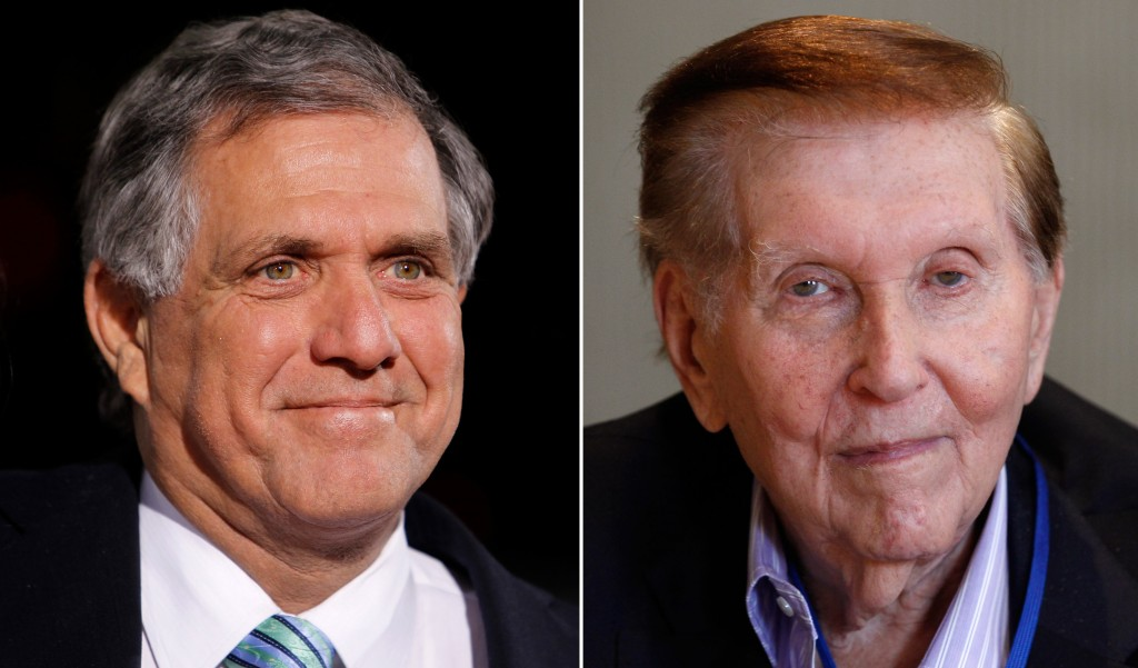 This composite image shows Les Moonves, left, and Sumner Redstone. (Reuters/Danny Moloshok/File)