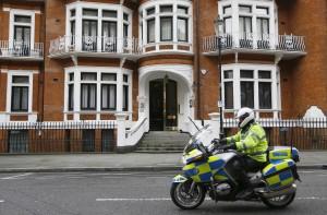 The Ecuadorean Embassy in London. (AP Photo/Kirsty Wigglesworth)