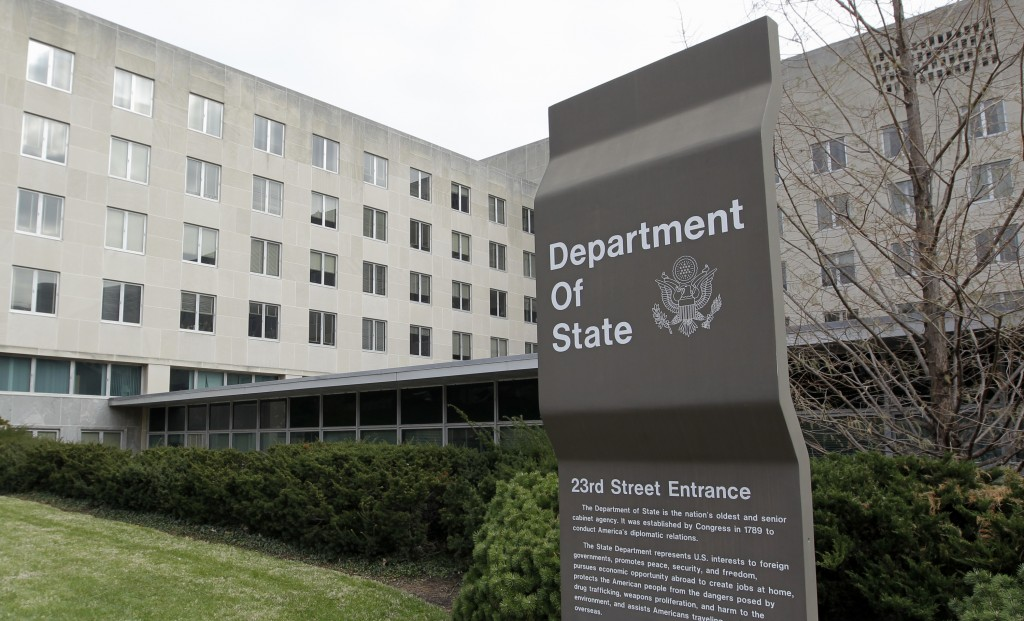 The U.S. State Department building in Washington. (AP Photo/Luis M. Alvarez)