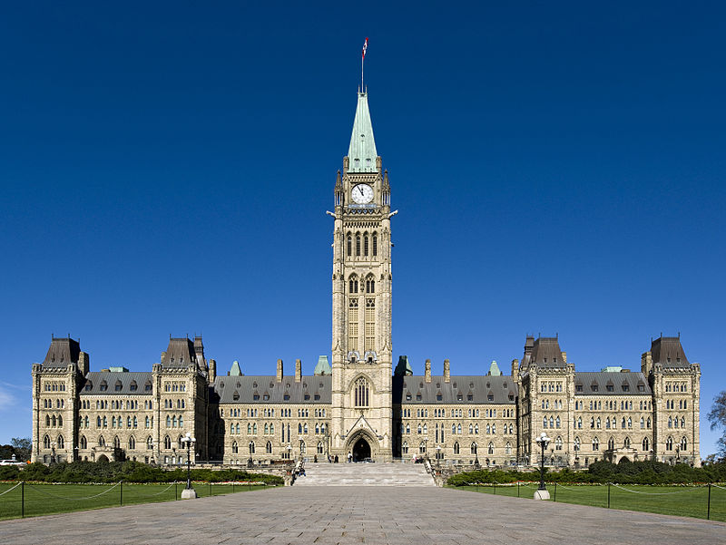 The Canadian Parliament in Ottawa. (Wikipedia)