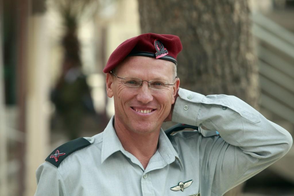 Brigadier general Nitan Alon at the IDF commander of West Bank replacement ceremony near Beit El. Photo by Uri Lenz/FLASH90 *** Local Caption *** ðéöï àìåï