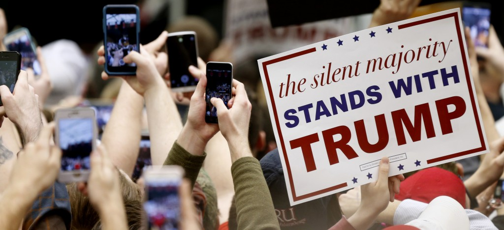 Supporters of Republican presidential candidate Donald Trump at a rally at Radford University in Radford, Va., on Monday. (AP Photo/Steve Helber)