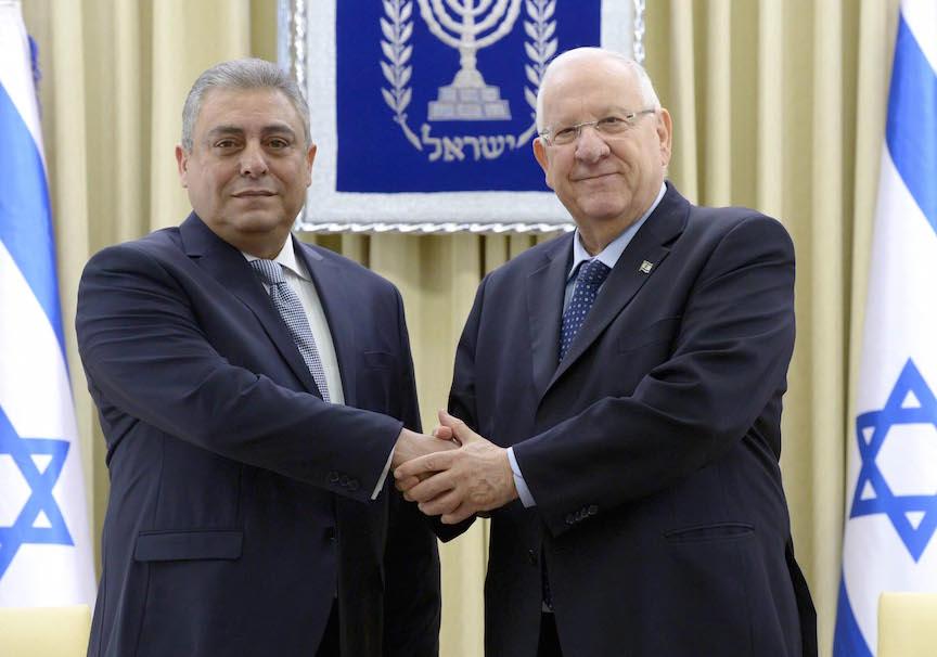 Khairat (L) and Rivlin (Mark Neyman / GPO)
