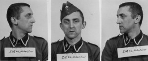 The undated photo provided by the Archive of the State Museum Auschwitz-Birkenau shows SS Oberscharfuehrer Hubert Zafke. Zafke, now 95, is scheduled to go on trial Monday, Feb. 29, 2016 in Neubrandenburg, north of Berlin, on 3,681 counts of accessory to murder on accusations he served as a medic at an SS hospital in Auschwitz in 1944. (The Archive of the State Museum Auschwitz-Birkenau via AP)