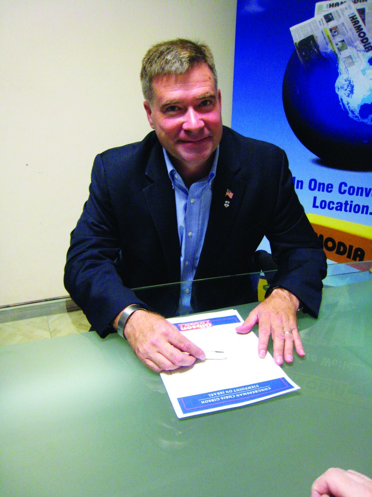 Rep. Chris Gibson (R-Kinderhook) speaks during an interview with Hamodia in 2012. (Hamodia Photo)