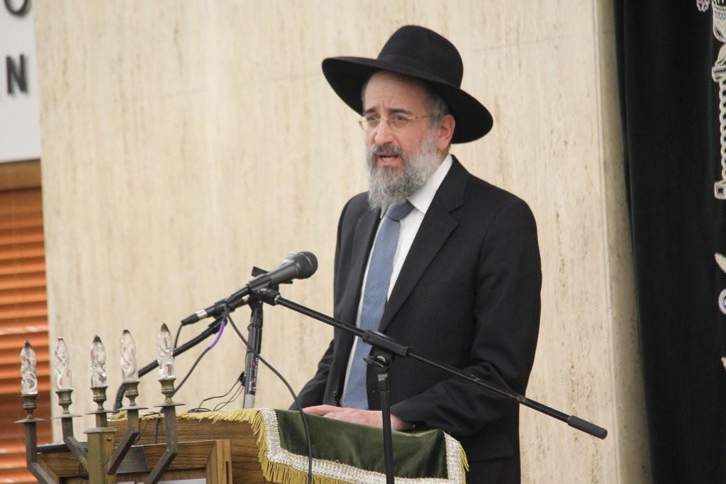 Torah Vodaath Rosh Yeshiva Rav Yisroel Reisman. (Shimon Gifter)