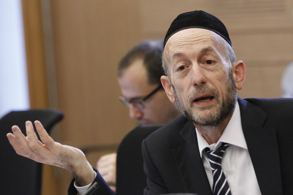 United Torah Judaism MK Uri Maklev.  (Miriam Alster/Flash90)
