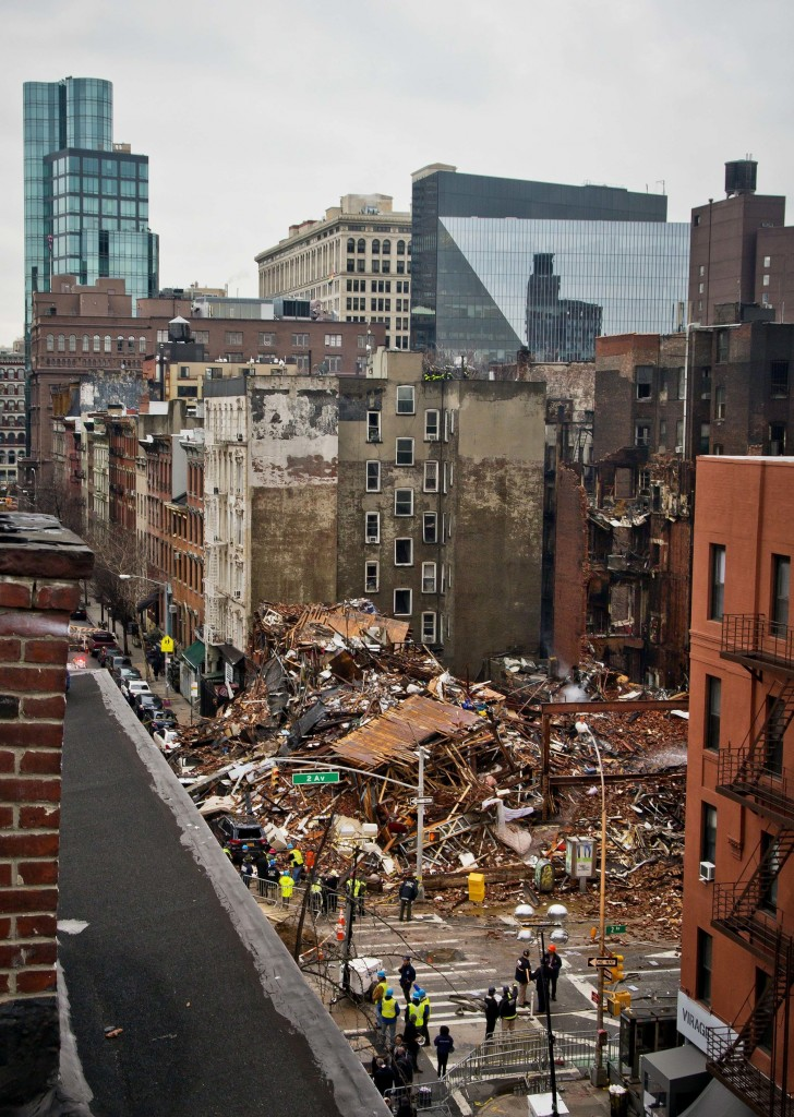The aftermath of the March 2015 gas explosion in the east Village. (AP Photo/Bebeto Matthews, File)