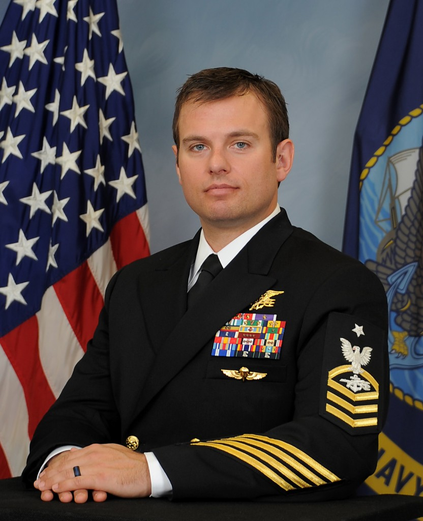 A photo provided Feb. 24, 2016 by the US Navy shows Senior Chief Special Warfare Operator (SEAL) Edward C. Byers Jr. Byers will be awarded the Medal of Honor by President Barack Obama during a White House ceremony on Monday, Feb. 29, 2016. Byers is receiving the medal for his actions during a 2012 rescue operation in Afghanistan. (U.S. Navyvia AP)