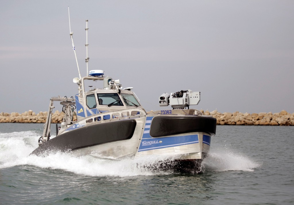 Seagull: The new unmanned, multi-mission sea-craft for anti-submarine warfare and sea-mine neutralization, unveiled just this week. (Photo: Elbit Systems)