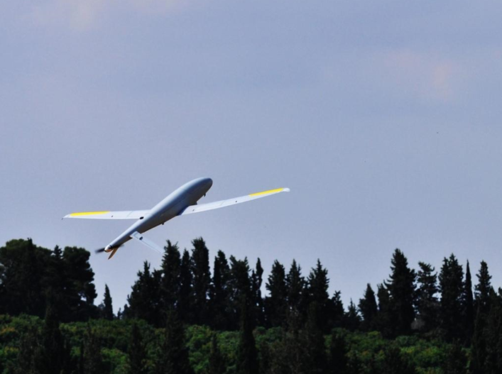 Elbit Systems unveiled the Skylark3, the latest in drone technology, on Wednesday. (Elbit Systems)