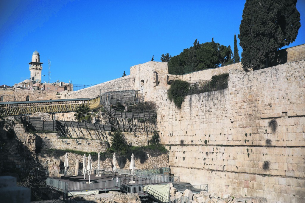The section that will be prepared for prayer for the Women of the Wall, by Robinson's Arch. (Hadas Parush/Flash90)