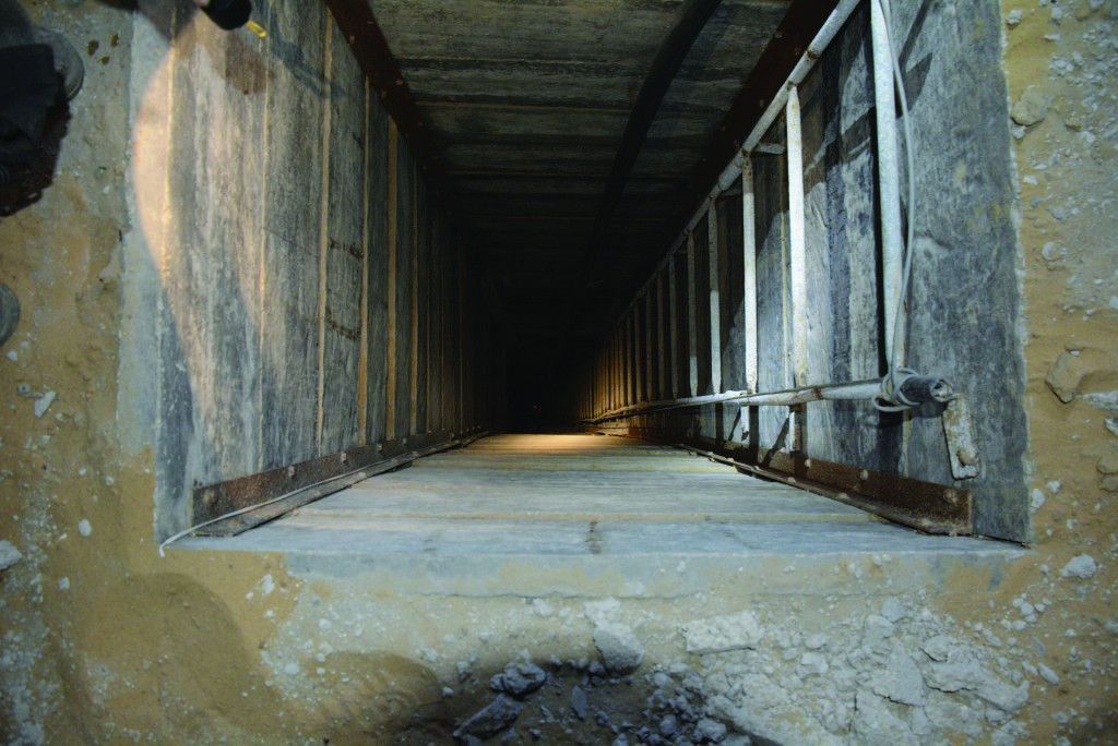 A Hamas terror tunnel. (IDF Spokesperson/Flash90)
