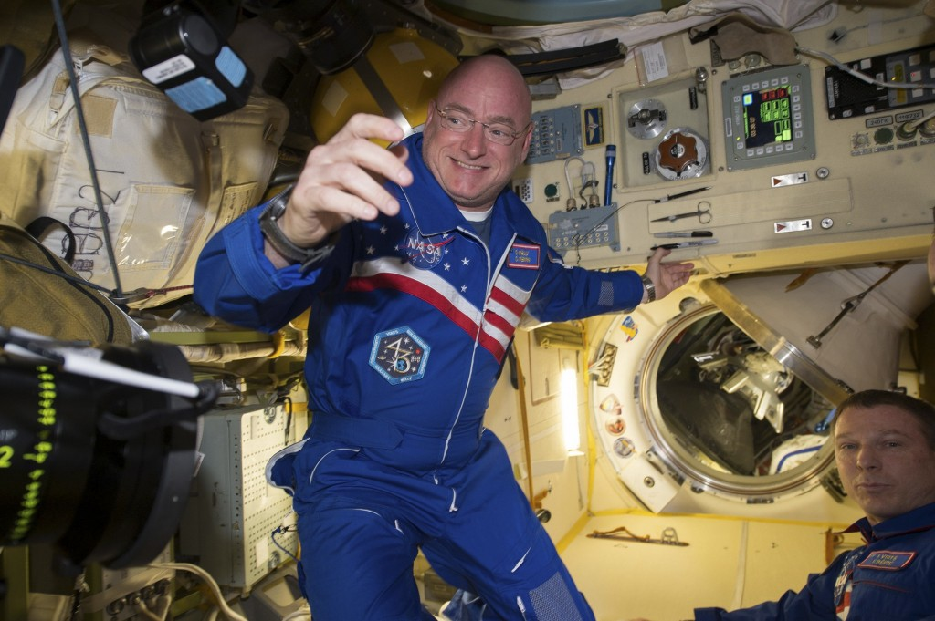 NASA astronaut Scott Kelly is shown with flight engineer Sergey Volkov (R) from the International Space Station in this NASA image released on February 29, 2016. (NASA/Reuters/Handout)
