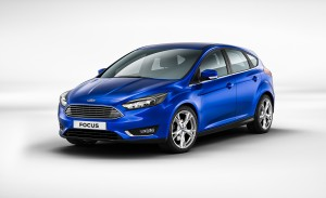 The 2016 Ford Focus hatchback in top-of-the-line Titanium trim starts at $23,725 and gets 26 mpg city, 38 mpg highway with the 2-liter direct injection four-cylinder engine. (Ford Motor Co.)