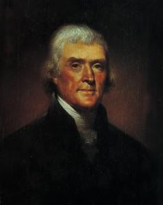 1800 portrait depicting Thomas Jefferson by artist Rembrandt Peale. (AP Photo/File)