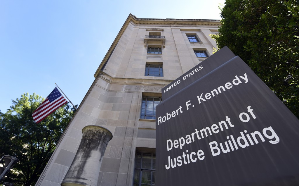 The view of the Justice Department in Washington. (AP Photo/Susan Walsh)