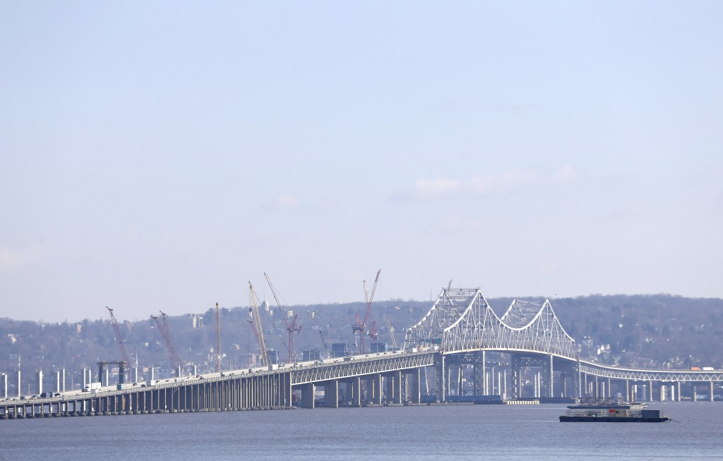Construction on the Tappan Zee Bridge, as seen from Nyack, N.Y. (AP Photo/Seth Wenig)