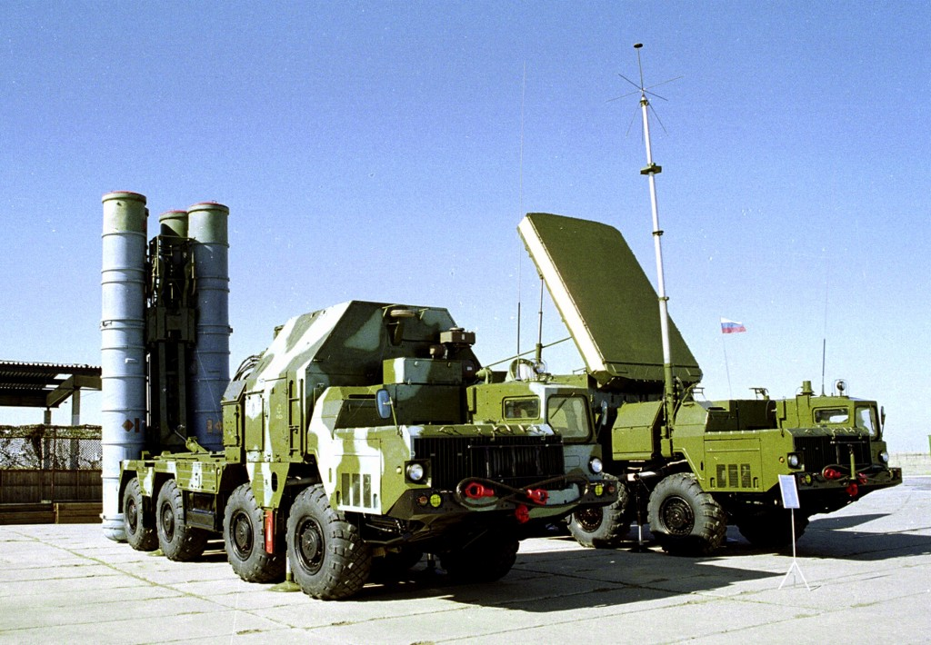 FILE - In this undated file photo a Russian S-300 anti-aircraft missile system is on display in an undisclosed location in Russia. (AP Photo, File)