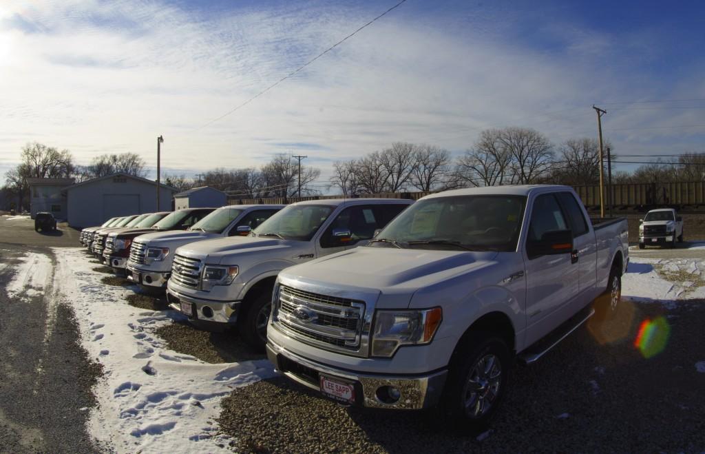 Ford F-150 pickup trucks. (AP Photo/Nati Harnik)