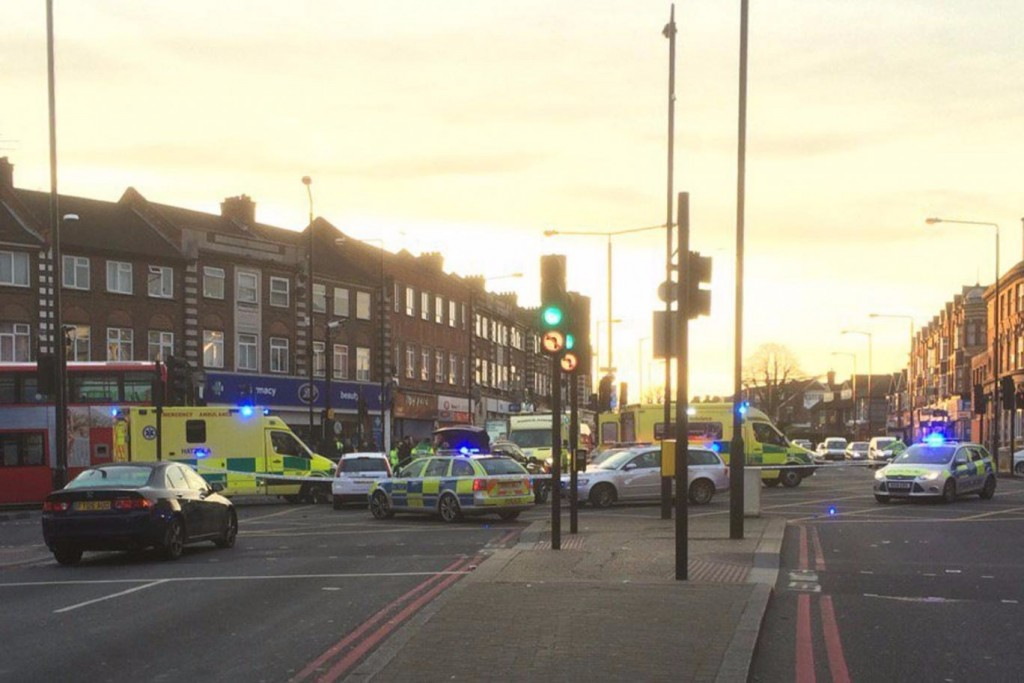 The scene of the accident in Stamford Hill on Tuesday morning. (London Metropolitan Police)