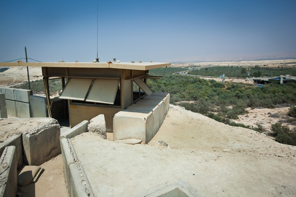View of the Allenby Bridge crossing point over the Jordan River. Photo by Moshe Shai/FLASH90