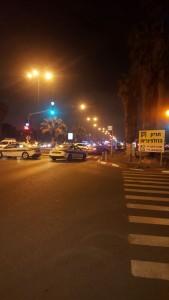Emergency personnel at the Jaffa port. ((Kvuzot Medabrim Takshoret)