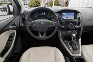 The 2016 Ford Focus Titanium interior. (Ford Motor Co.)